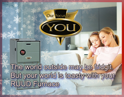 Ruud Ultra Series™ 90 PlusModulating Gas Furnace