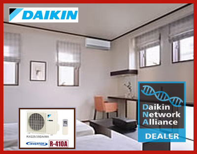 Daikin Split Systems are a perfect fit for ductless or ducted homes